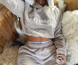 cosy, grey, and outfit image