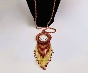 dream catcher, seed beads, and dream catcher jewelry image