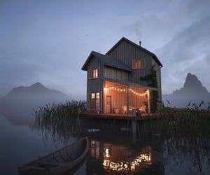 boat, lights, and cabin image