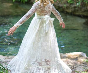 baby clothes, flower girl dresses, and ivory girls dress image