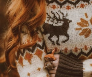 red hair and sweater image