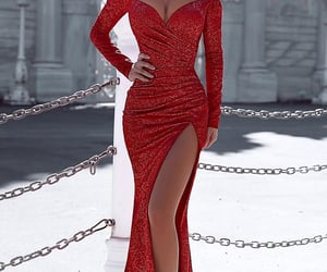 prom dress, formal dress, and evening gowns image