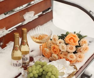 flowers, snow, and grapes image