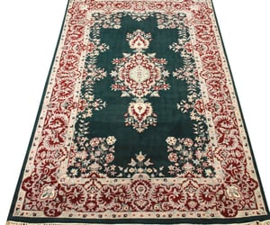 home decorating, floral collection, and wool area rug image