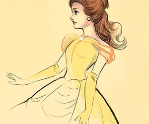 beauty and the beast, disney, and disney princess image