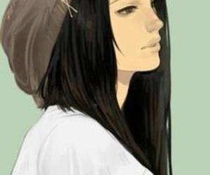 girl and black hair image