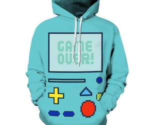 hoodie and retro video game image