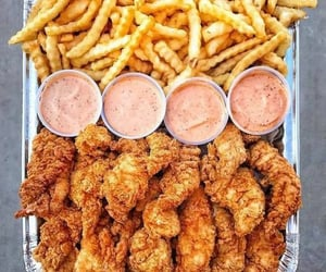 Chicken, salsa, and fast food image