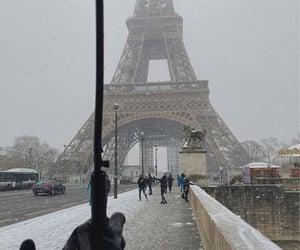 winter, paris, and christmas image