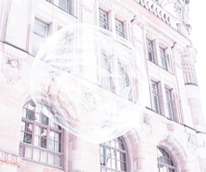 bubbles, city, and white image