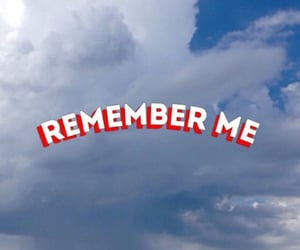 blue, remember me, and clouds image