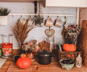 autumn, fall, and kitchen image