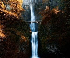 waterfall, nature beauty, and nature landscape image