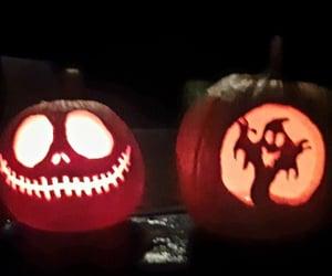 Halloween, jack-o-lantern, and pumpkins image