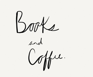 books, coffee, and typography image