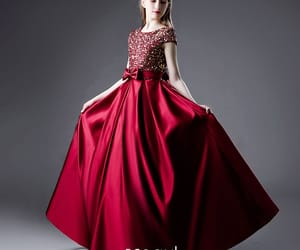 a-line, charming, and satin image
