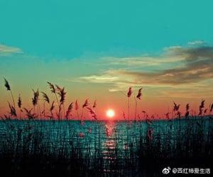 sun, sunset, and sky image