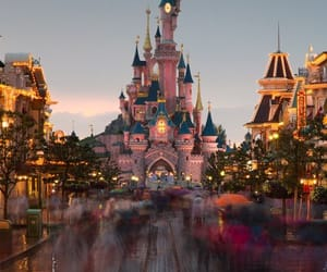castle, princesses, and disney image