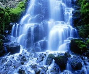 waterfall, pemandangan, and air terjun image