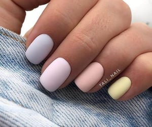 colors, nails, and pink image