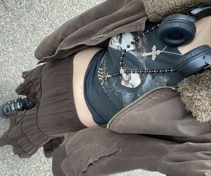 black, pinterest, and grunge outfits image