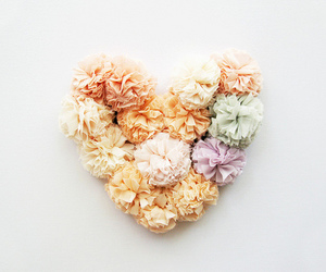 heart, pastel, and flowers image
