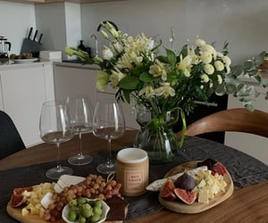 food, glasses, and kitchen image