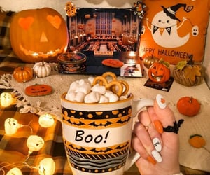 decoration, Halloween, and pumpkins image