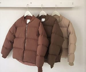 aesthetic, brown, and jacket image