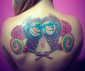 colors, girl, and tattoo image