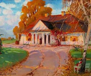 autumn, house, and polish at image