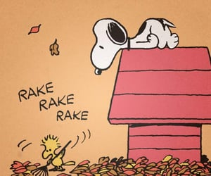 autumn, snoopy, and charlie brown image