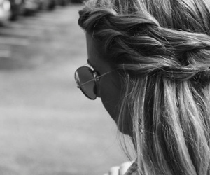 braided hair, girl, and pretty image