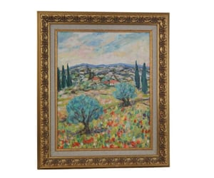 etsy, country landscape, and french painting image