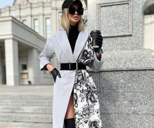 dior bag, grey & black coat, and luxury lifestyle image
