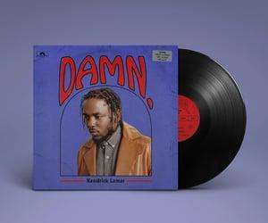 music, damn., and kendrick lamar image