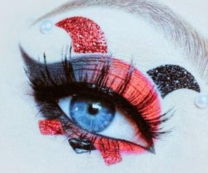 eyes, white, and makeup image