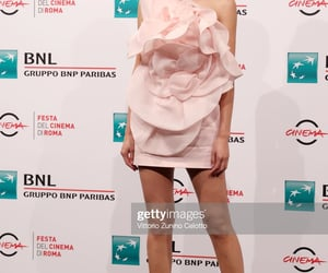 pink dress, rome film festival, and gemma chan image