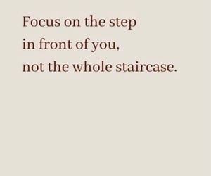 focus, steps, and mental health image