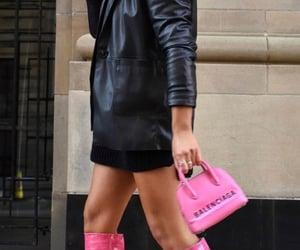 Balenciaga and leather jacket image
