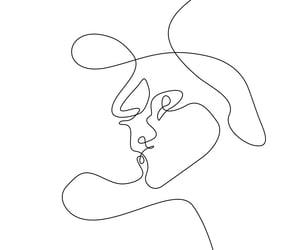 couple, line art, and kiss image