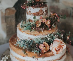 cakes, floral, and flowers image