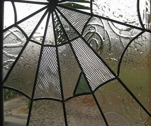 fall, home design, and spider web window image