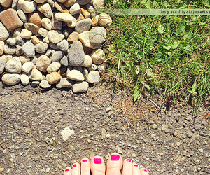 feet, grass, and toe nails image