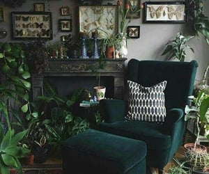 aesthetic, green, and room decor image