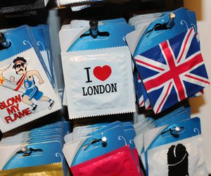 blow, i love london, and condom image