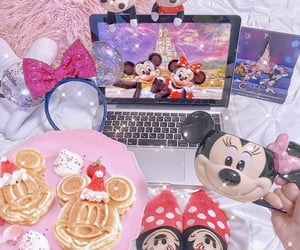 breakfast, minnie mouse, and cozy image