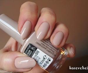 beige, nail polish, and nails image