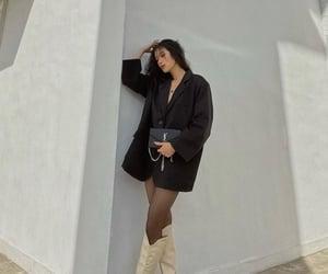 black, winter, and blazer image