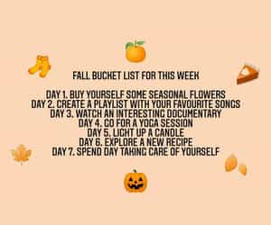 autumn, autumn bucket list, and quotes image